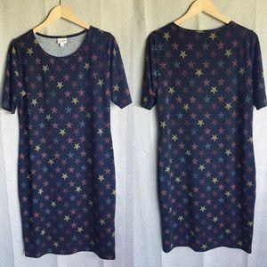 Lularoe Julia Stars design xl sleeve dress